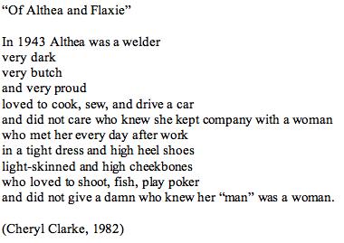 Cheryl Clarke poem