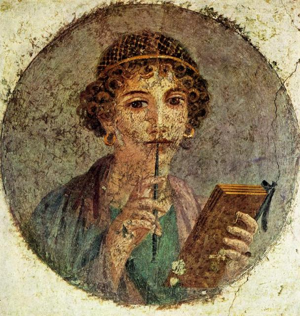 Sappho Roman wall painting